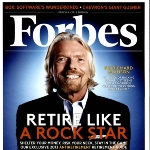 Achievement Forbes cover of Richard Branson