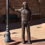 "Achievement A life-sized statue of Frey was unveiled at the Standin' on the Corner Park in Winslow, Arizona, on September 24, 2016, to honor his songwriting contributions to ""Take It Easy"", made famous by the Eagles as their first single in 1972. of Glenn Frey"