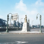 Achievement Monument to Umm Kulthum in Zamalek, Cairo; it is located on the site of the singer's former house. of Umm Kulthum