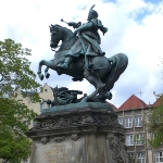 Achievement Monument in Gdańsk, moved from Lwów after World War II of John III Sobieski