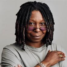Whoopi eyebrows goldberg no does have why What happened