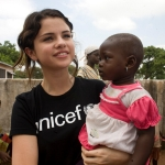 Achievement Selena Gomez during a UNICEF mission of Selena Gomez