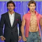 Achievement Hrithik Roshan with his wax sculpture at Madame Tussauds. of Hrithik Roshan