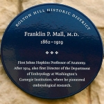 Achievement Historic marker in honour of Franklin Paine Mall. of Franklin Mall