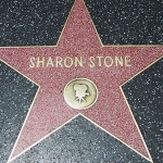 Achievement Stone received a star on the Hollywood Walk of Fame at 6925 Hollywood Boulevard in Hollywood, California in 1995. of Sharon Stone