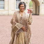 Achievement Meera Syal after she was presented with her Commander of the British Empire medal, awarded by the Prince of Wales at an Investiture ceremony at Buckingham Palace on May 6, 2015 in London. Photo by Dominic Lipinski.  of Meera Syal