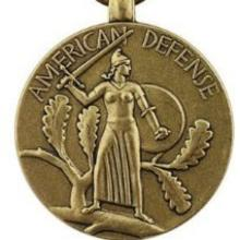 Award American Defense Service Medal with Atlantic Fleet Clasp