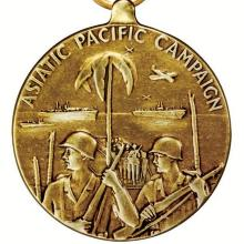 Award Asiatic-Pacific Campaign Medal with three battle stars