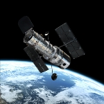 Achievement Photo of the Hubble Space Telescope named in honor of Edwin Hubble. of Edwin Hubble