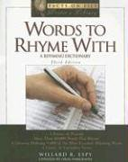 book Words to Rhyme with: A Rhyming Dictionary (Facts on File Writer\'s Library)