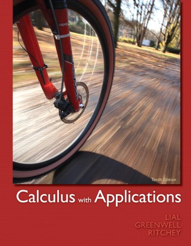 book Calculus with Applications (10th Edition)