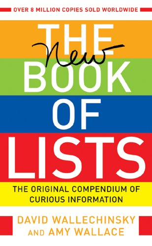 book The New Book of Lists: The Original Compendium of Curious Information