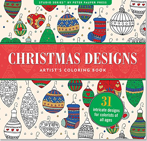 book Christmas Designs Adult Coloring Book (31 stress-relieving designs) (Studio)