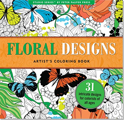 book Floral Designs Adult Coloring Book (31 stress-relieving designs) (Studio)
