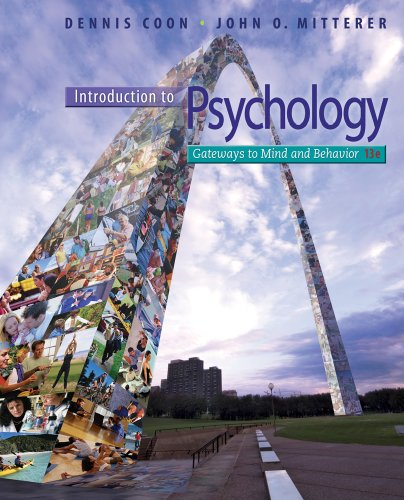 book Introduction to Psychology: Gateways to Mind and Behavior, 13th Edition