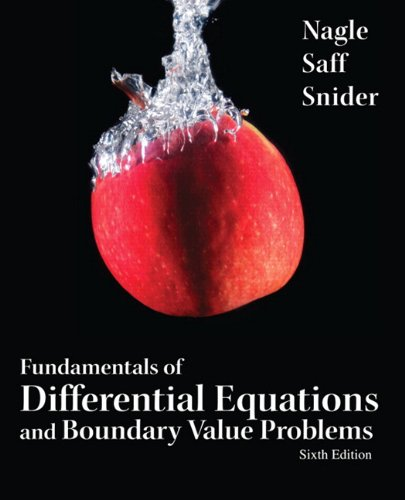 book Fundamentals of Differential Equations and Boundary Value Problems (6th Edition) (Featured Titles for Differential Equations)