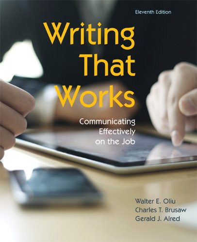 book Writing That Works: Communicating Effectively on the Job, 11th Edition