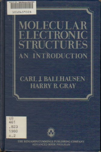 book Molecular Electronic Structures: An Introduction