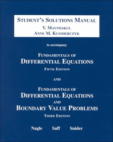 book Fundamentals of Differential Equations and Boundary Value Problems: Student\'s Solutions Manual, Third Edition