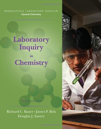 book Laboratory Inquiry in Chemistry (Brooks \/ Cole Laboratory Series for General Chemistry)