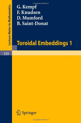 book Toroidal Embeddings 1 (Lecture Notes in Mathematics)