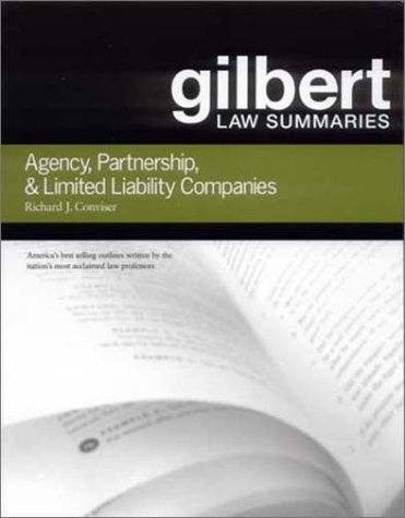 book Gilbert Law Summaries: Agency, Partnership, & Limited Liability Companies