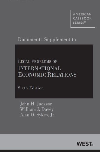 book Legal Problems of International Economic Relations (American Casebook Series)