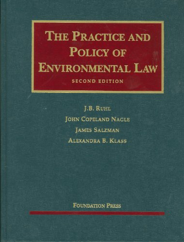 book The Practice and Policy of Environmental Law, 2d (University Casebooks) (University Casebook Series)