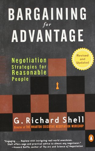 book Bargaining for Advantage: Negotiation Strategies for Reasonable People 2nd Edition