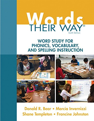 book Words Their Way: Word Study for Phonics, Vocabulary, and Spelling Instruction (6th Edition) (Words Their Way Series)