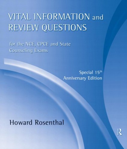 book Vital Information and Review Questions for the NCE, CPCE and State Counseling Exams: Special 15th Anniversary Edition
