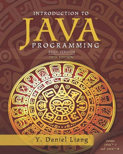 book Intro to Java Programming, Brief Version (10th Edition)