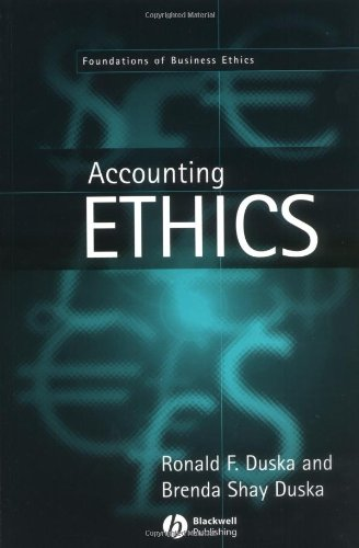book Accounting Ethics (Foundations of Business Ethics)