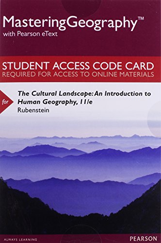 book MasteringGeography with Pearson eText --Standalone Access Card -- for The Cultural Landscape: An Introduction to Human Geography (11th Edition)
