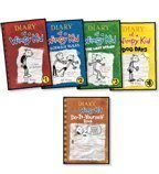 book Diary of a Wimpy Kid Complete 5-Book Set: Diary of a Wimpy Kid, Rodrick Rules, The Last Straw, Dog D
