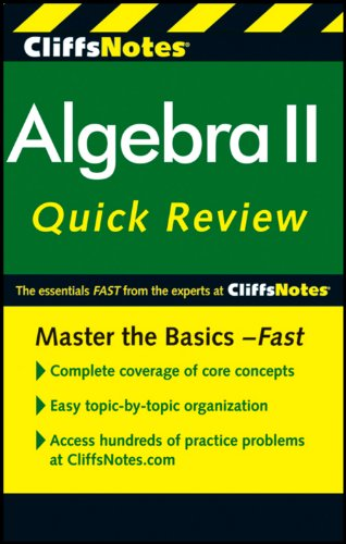 book CliffsNotes Algebra II Quick Review, 2nd Edition