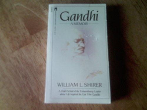 book Gandhi: A Memoir by William L. Shirer (1982) Paperback