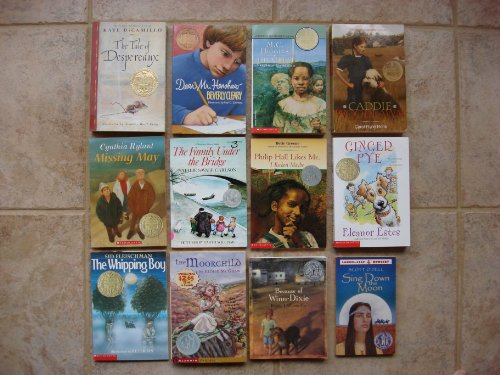 book Set of 12 Newbery Medal\/Honor Books (Caddie Woodlawn ~ Tale of Despereaux ~ Ginger Pye ~ Whipping Boy ~ Moorchild ~ Because of Winn-Dixie ~ Missing May ~ Family Under the Bridge ~ Philip Hall Likes Me, I Reckon Maybe ~ M.C. Higgins the Great ~ Dear Mr. He