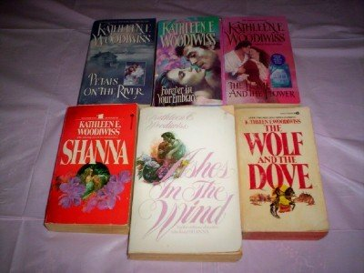 book Kathleen E Woodiwiss - (Set of 6) - Not a Boxed Set (Ashes in the Wind - Forever in Your Embrace - The Wolf and the Dove - Shanna - The Flame and the Flower - Petals on the River)