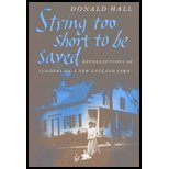 book String Too Short to Be Saved by Hall,Donald. [1999] Paperback