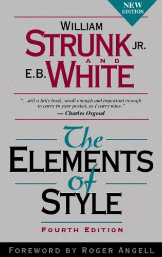 book The Elements of Style, Fourth Edition