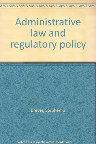 book Administrative law and regulatory policy