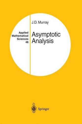 book Asymptotic Analysis (Applied Mathematical Sciences)