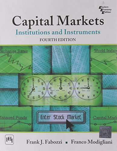book Capital Markets: Institutions and Instruments-International Edition