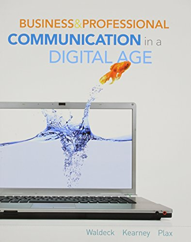 book Business and Professional Communication in a Digital Age (New 1st Editions in Communication Studies)