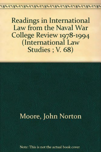 book Readings in International Law from the Naval War College Review 1978-1994 (International Law Studies ; V. 68)