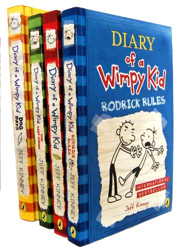book Diary of a Wimpy Kid Collection 4 Books Set (The Last Straw, Rodrick Rules, Dog Days, Diary of A Wimpy Kid, Dog Days Hardback rest are Paperback)