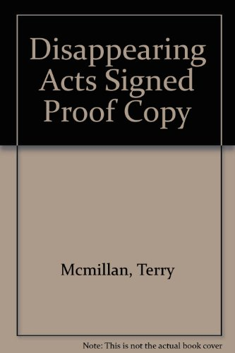 book Disappearing Acts Signed Proof Copy