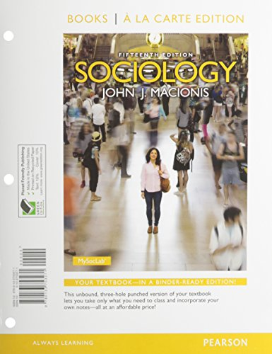 book Sociology, Books a la Carte Edition &  REVEL -- Access Card -- for Sociology Package (15th Edition)