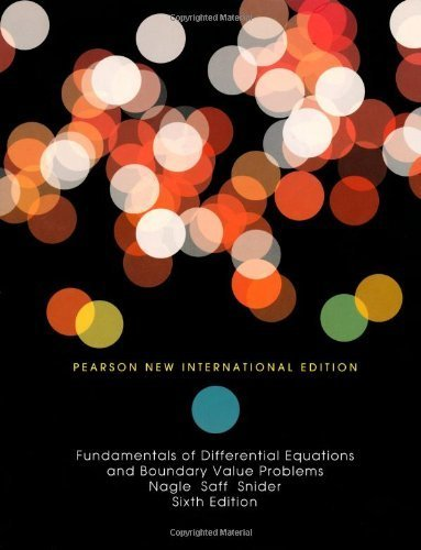 book Fundamentals of Differential Equations and Boundary Value Problems by Nagle, R. Kent, Saff, Edward B., Snider, David (2013) Paperback